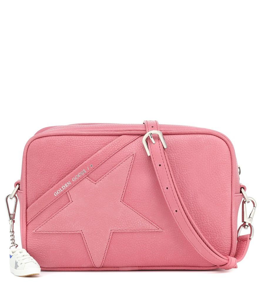 Golden Goose Star leather shoulder bag in pink