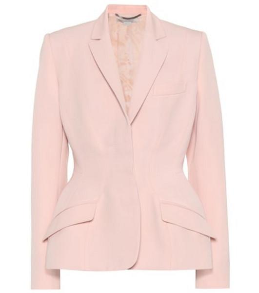 Stella McCartney Virgin wool blazer in pink