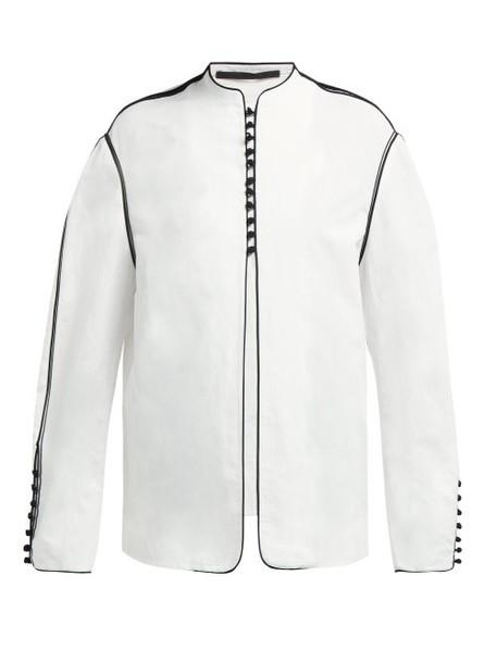 Haider Ackermann - Soutache Braid Cotton Blend Jacket - Womens - White Black