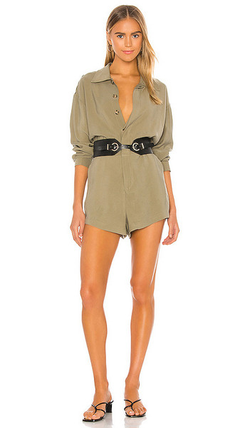 L'Academie Dylan Romper in Army in green
