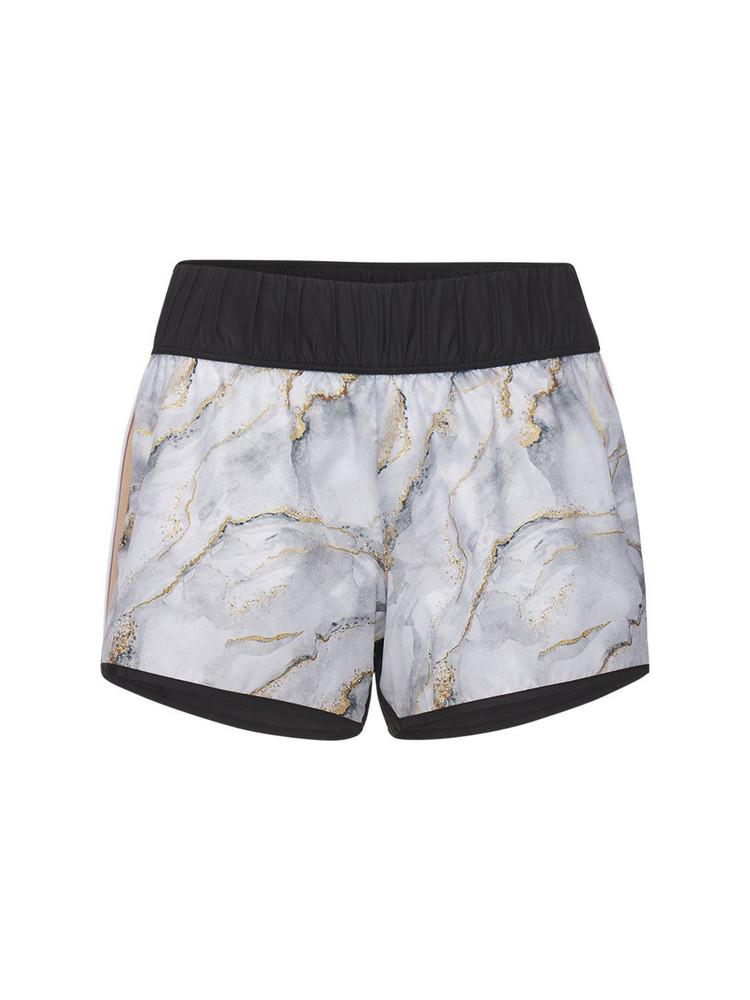 NO KA'OI Marble Shorts in grey