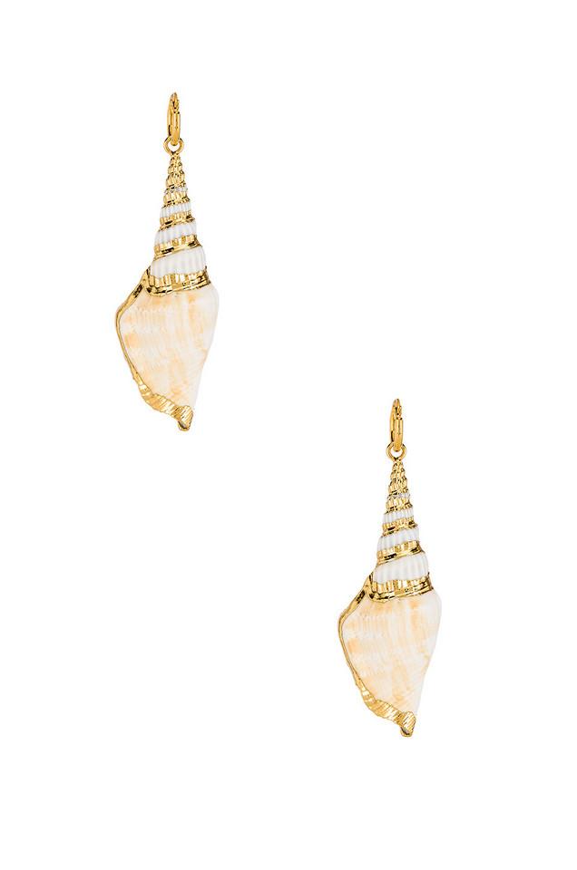 Amber Sceats Talisa Earrings in gold / metallic
