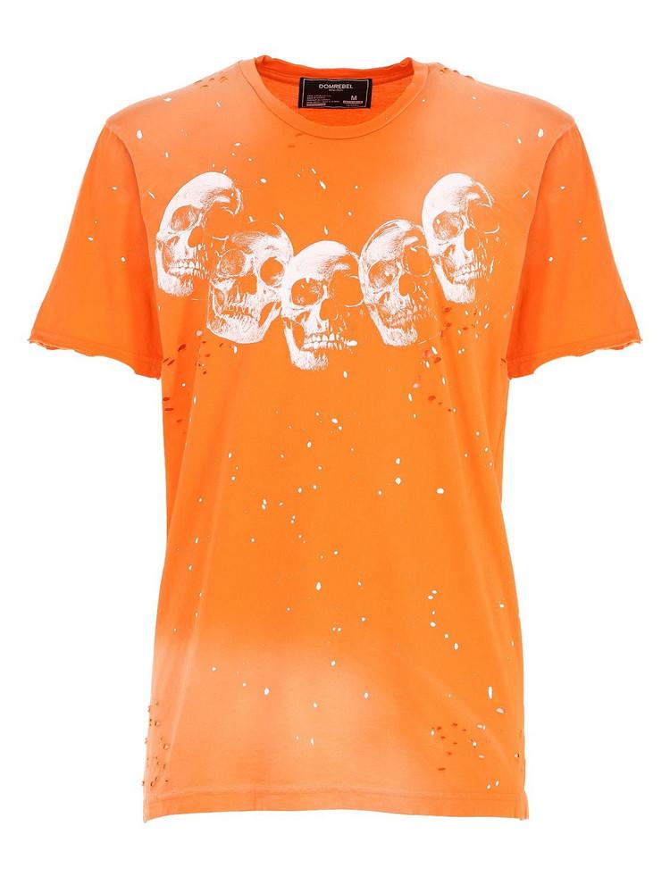 DOMREBEL Amigos Cotton Jersey T-shirt in orange