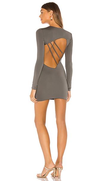 superdown Dee Cut Out Dress in Gray