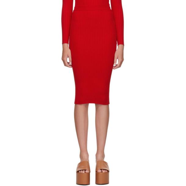 giu giu Red Nonna Tube Skirt