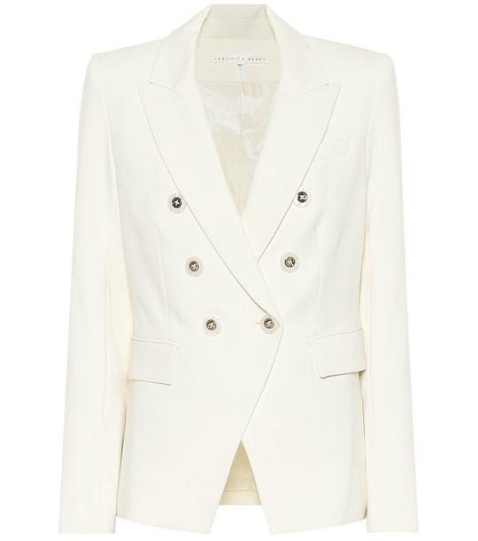 Veronica Beard Miller Dickey stretch-twill blazer in white