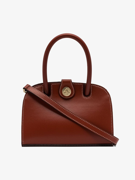 Manu Atelier red Ladybird Micro leather shoulder bag