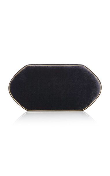 Hunting Season M'O Exclusive Compact Velvet Clutch in grey