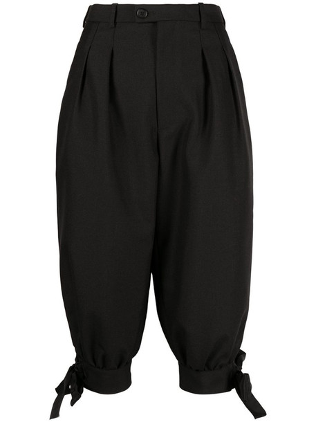Maison Margiela knot detail cropped trousers in black