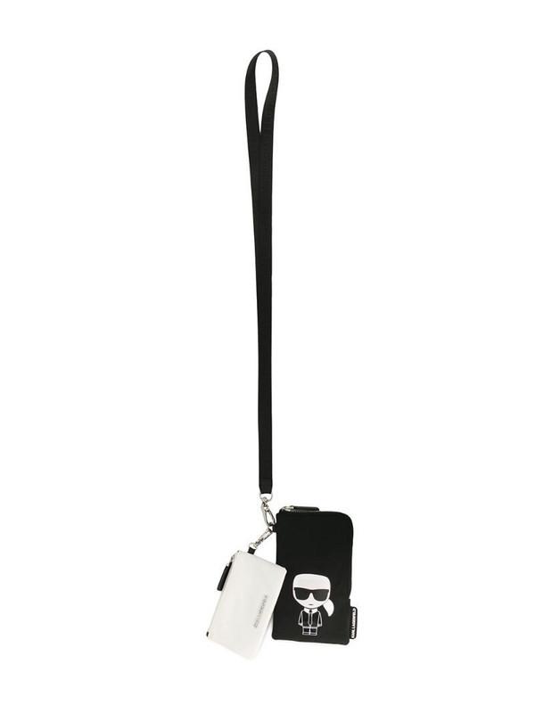 Karl Lagerfeld K/Ikonik double pouch in black