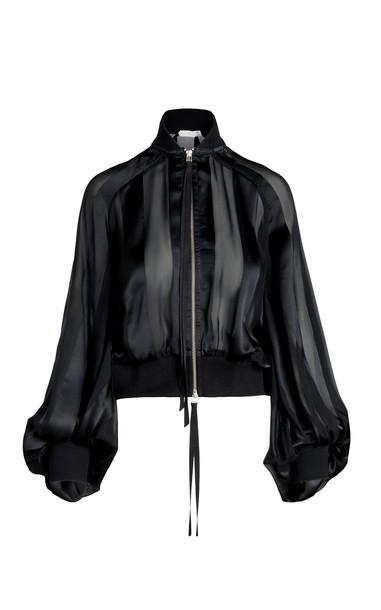 UNTTLD Mendoza Silk Bomber in black