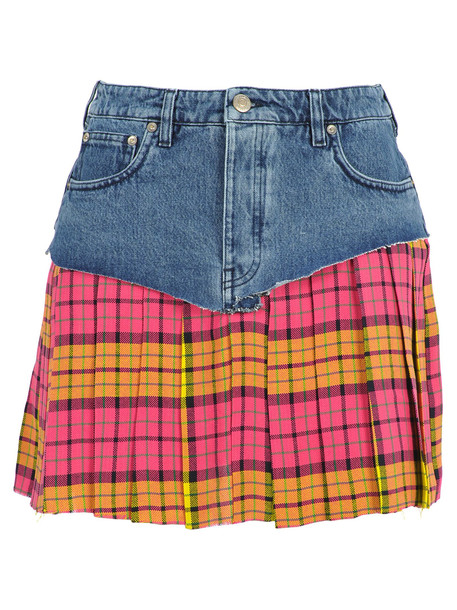 Vetements School Girl Skirt in blue