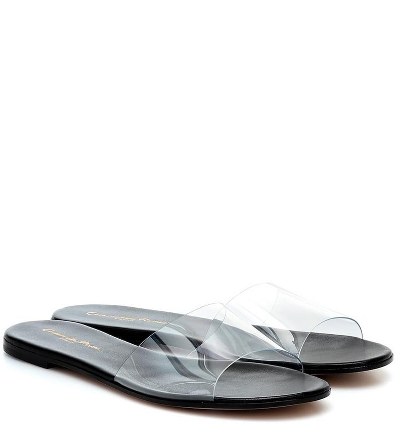 Gianvito Rossi Plexi sandals in black
