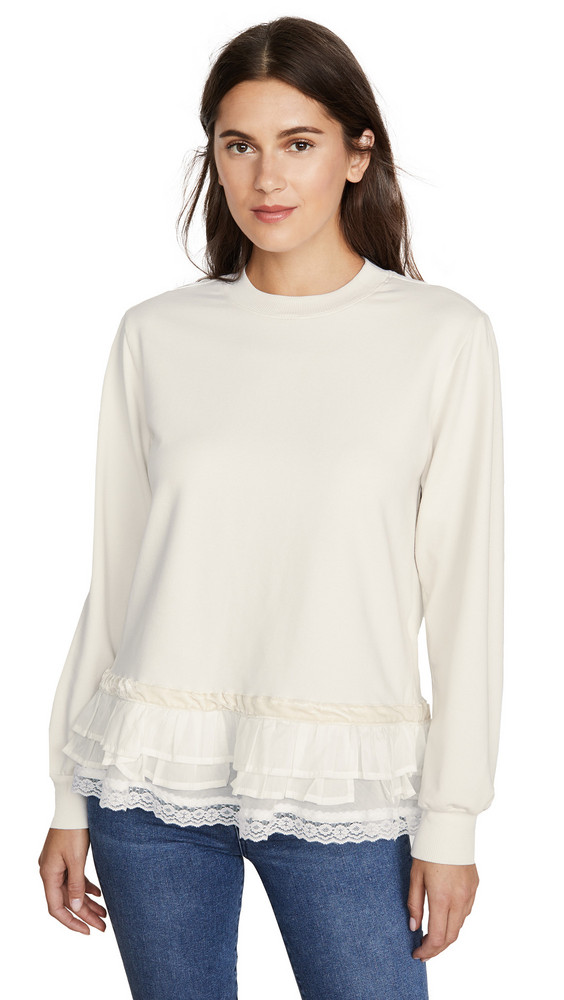 Clu Embellished Pullover in ivory