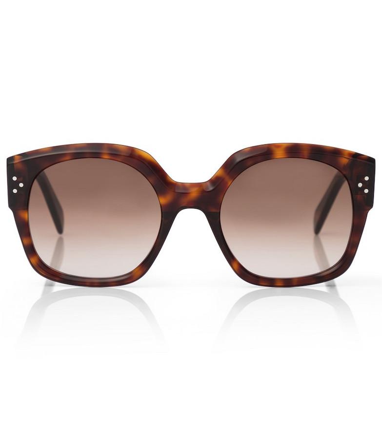 Celine Eyewear D-frame acetate sunglasses in brown