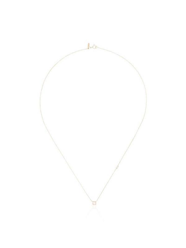 Xiao Wang 14kt gold diamond-pendant necklace