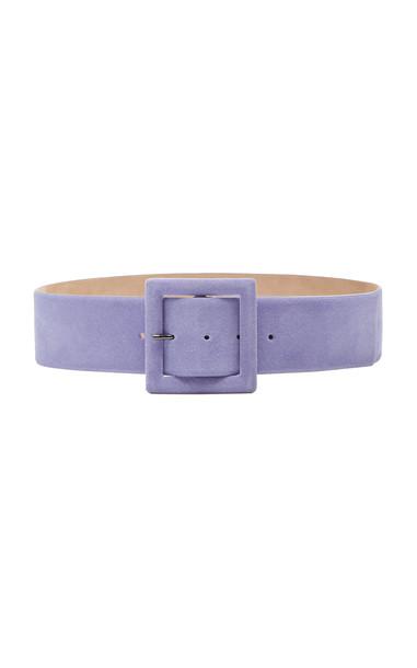 Carolina Herrera Wide Belt Size: S in purple