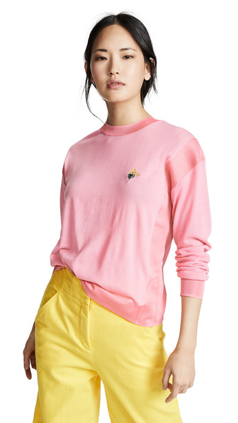Sonia Rykiel Embroidered Sweater in pink