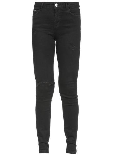 Philipp Plein Slim Fit Statement Jeans in black