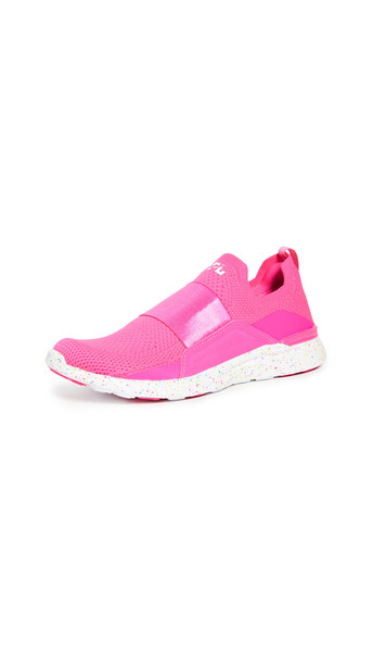 APL: Athletic Propulsion Labs TechLoom Bliss Sneakers in pink / white