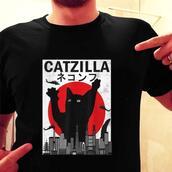 top,cat lovers,cat lover,godzilla,meme,memes,funny shirt,funny t-shirt,parody tshirt,graphic tee