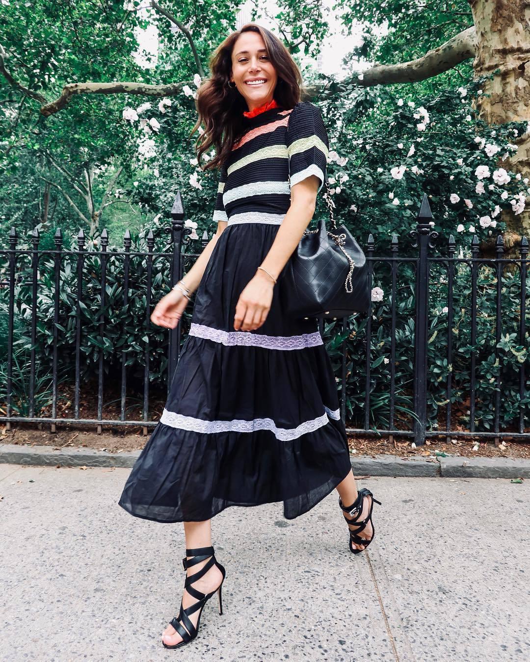 dress maxi dress black maxi dress striped dress stripes sandals