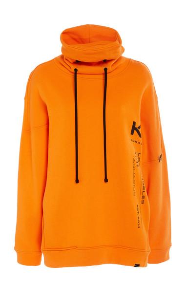 Koral Nuveau Cotton Matte Pullover Size: L in orange