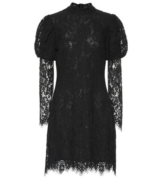 Ganni Lace minidress in black