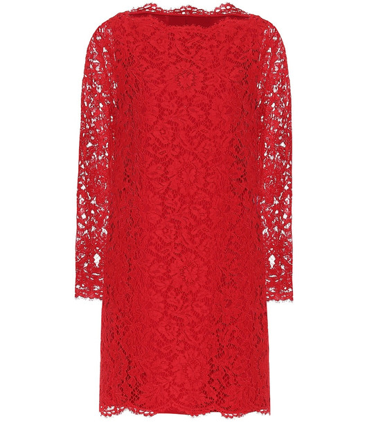 Valentino Lace minidress in red