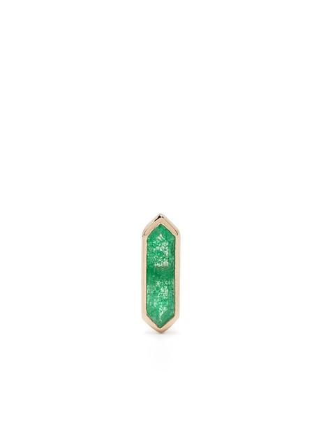 Metier by Tom Foolery 9kt yellow gold quartz Mini Hexa stud earring