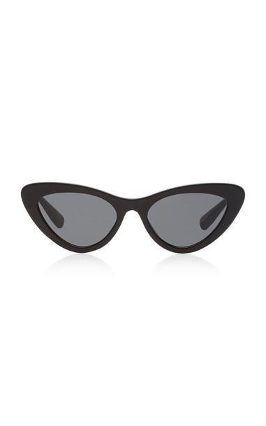 Miu Miu Cat-Eye Acetate Sunglasses in black