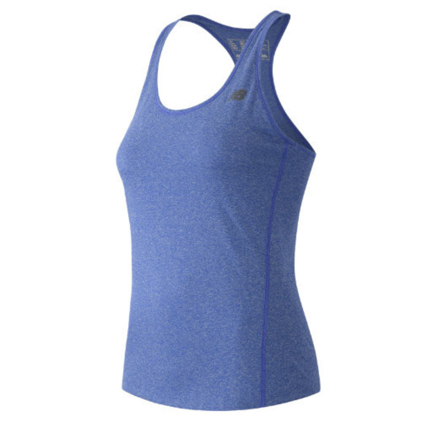 New Balance 53149 Women's Heathered Tank - Blue (WT53149MJH)