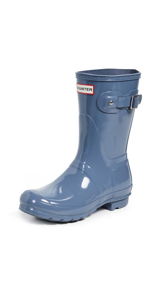 Hunter Boots Original Short Gloss Boots in grey