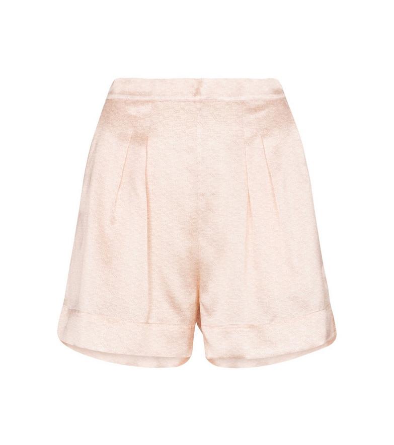 Eres Loyal silk-satin shorts in pink