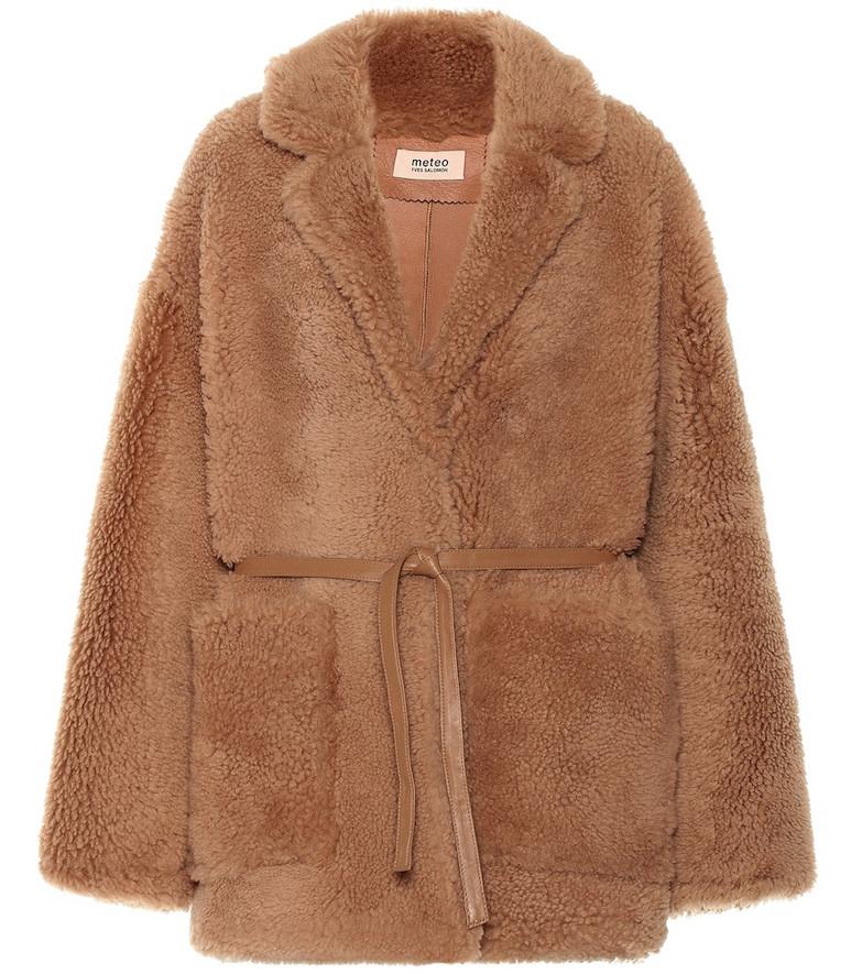Yves Salomon - Meteo Shearling coat in beige