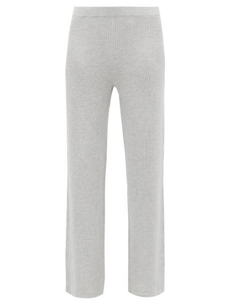 Skin - Cynthia Flared Cotton Blend Pyjama Trousers - Womens - Grey
