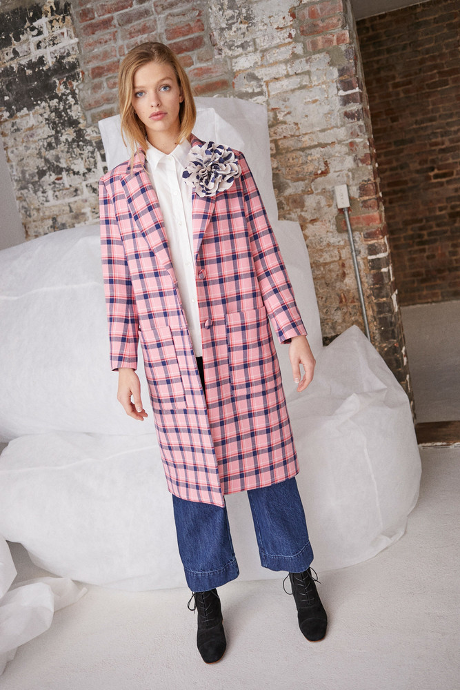WHIT PARKER COAT in SHERBET PINK PLAID