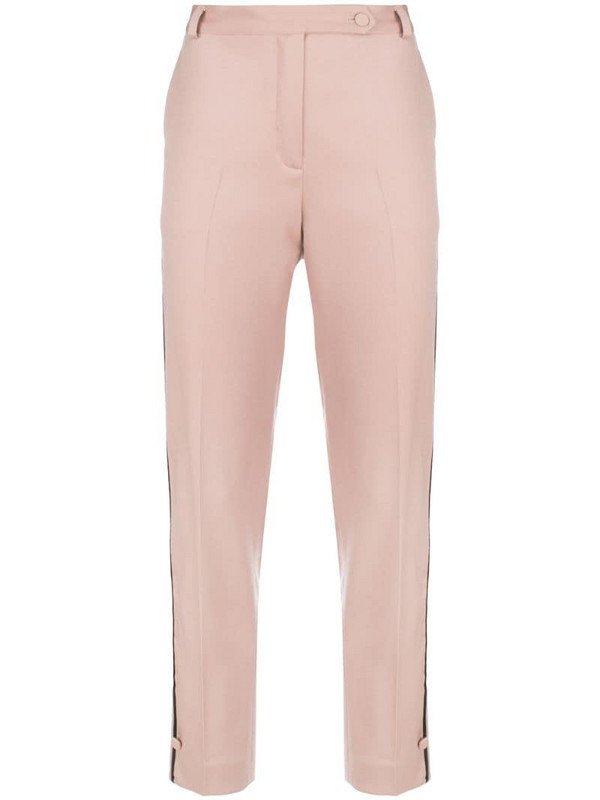 Styland cropped straight leg trousers in neutrals
