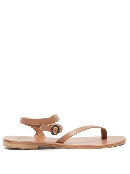 Álvaro Álvaro - Arubina Wraparound Leather Sandals - Womens - Tan