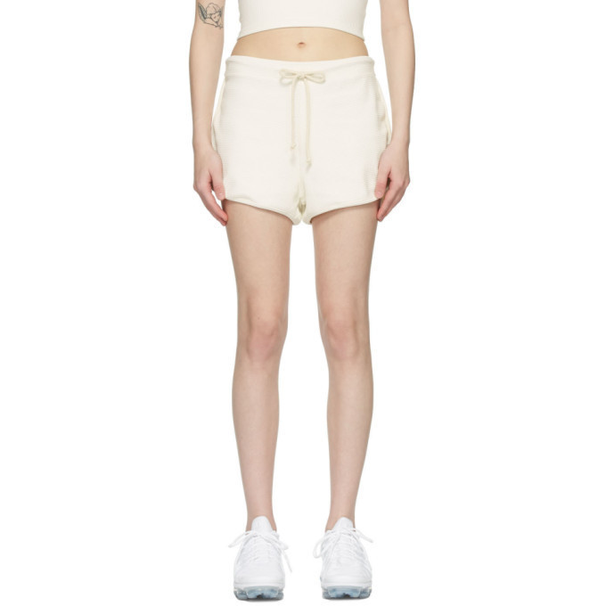 Gil Rodriguez SSENSE Exclusive Off-White Thermal Leisure Shorts in natural