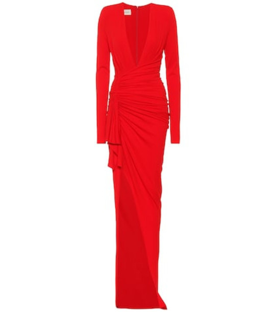 Alexandre Vauthier Long-sleeved gown in red