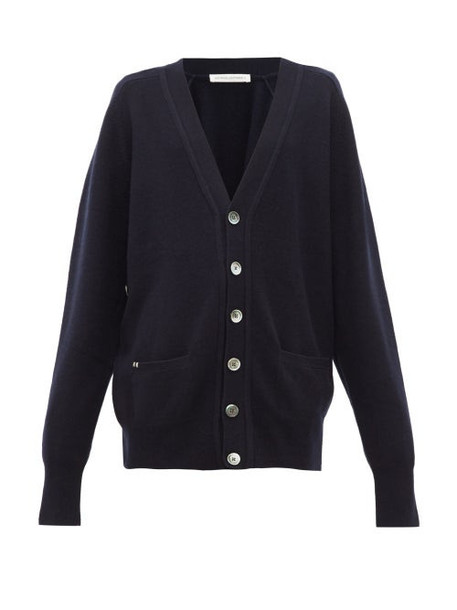 Extreme Cashmere - N°117 Cashmere Blend Cardigan - Womens - Navy