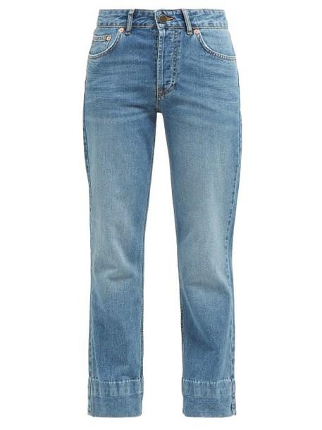 Raey - Hand Me Down Straight Leg Jeans - Womens - Blue