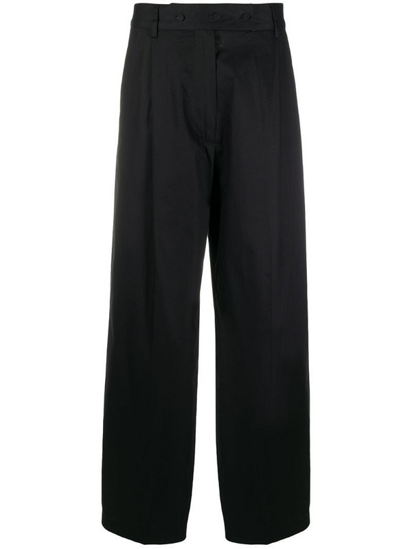 Maison Flaneur wide leg trousers in black