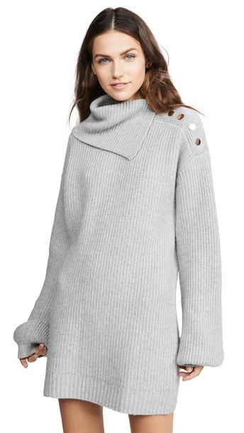 Generation Love Wilson Buttons Sweater Dress in grey