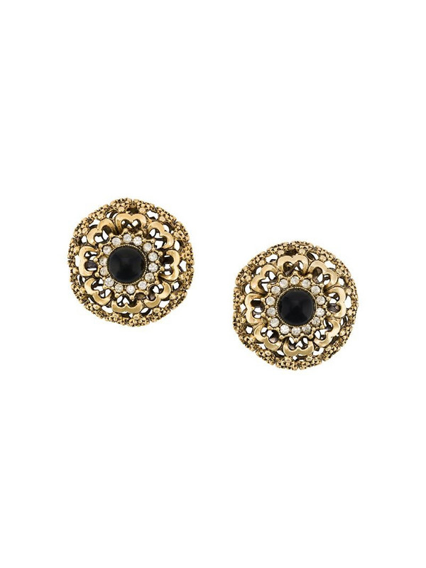 A.N.G.E.L.O. Vintage Cult 1980s embellished earrings in gold