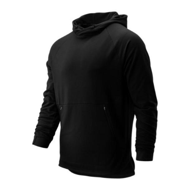 New Balance 93047 Men's R.W.T. Long Sleeve Pullover Hoodie - Black (MT93047BK)