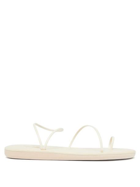 Ancient Greek Sandals - Kansiz Fine-strap Faux-leather Sandals - Womens - White