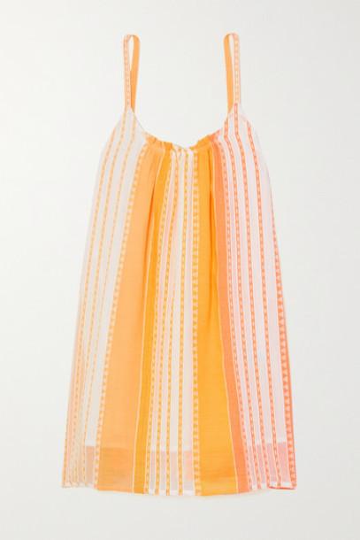 LemLem - Net Sustain Eshal Striped Cotton-gauze Mini Dress - Yellow