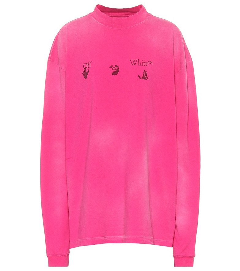Off-White Tie-dye oversized cotton T-shirt in pink